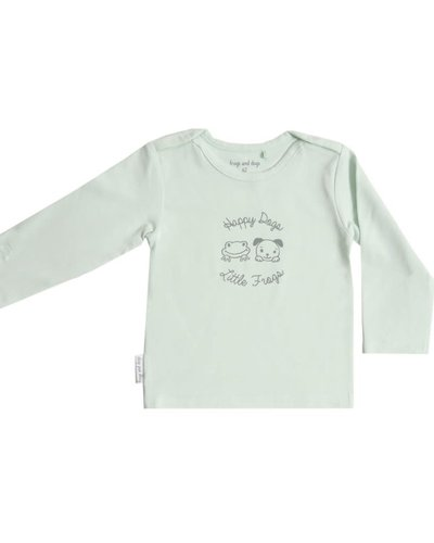 Frogs and Dogs Shirt effen roze/blauw/mintgroen