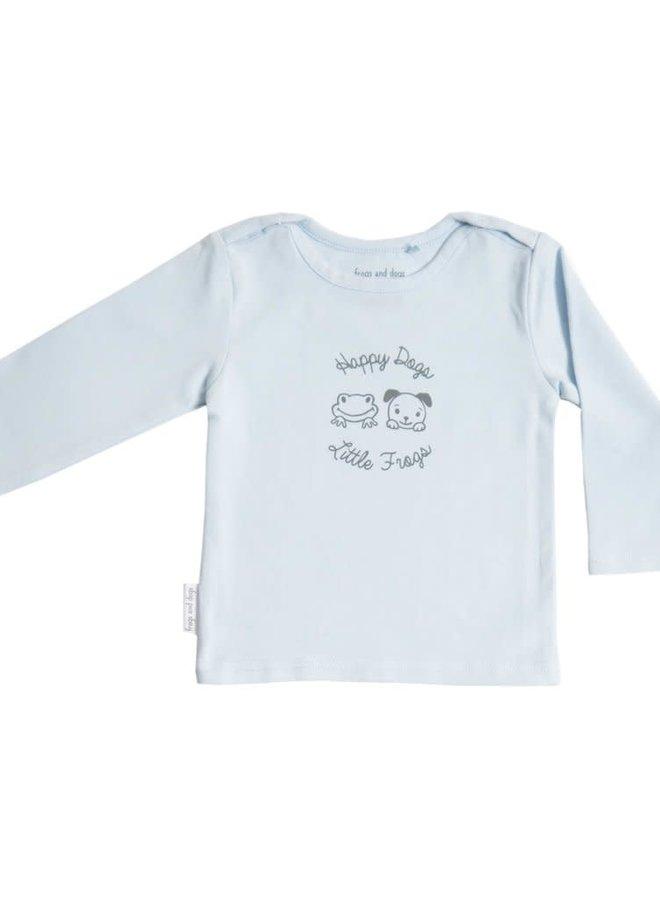 Shirt effen roze/blauw/mintgroen