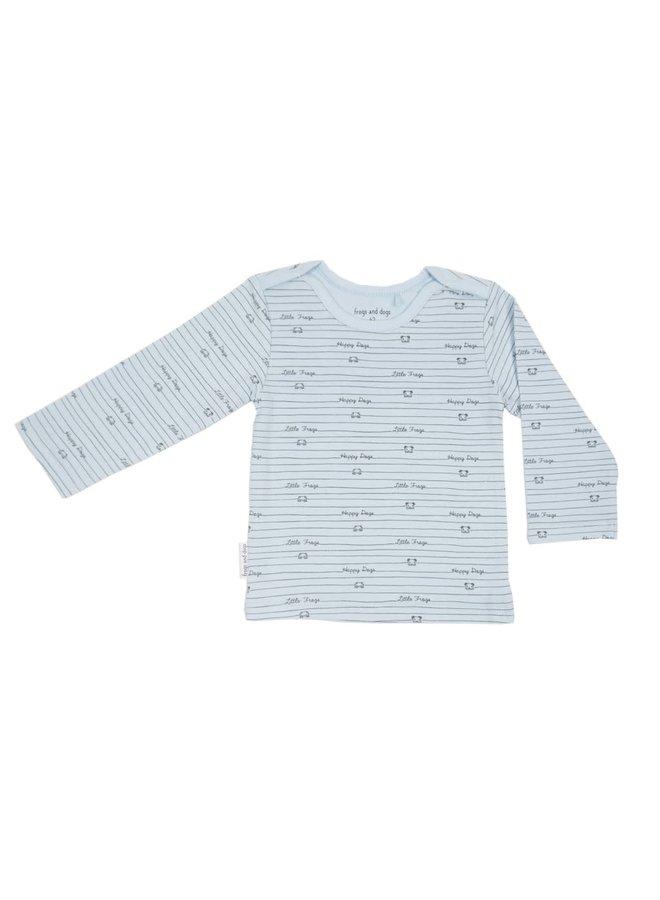Shirt print roze/blauw/mintgroen