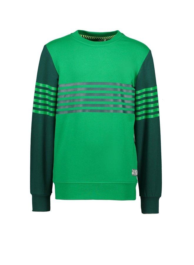 Sweater vertical print Apple green