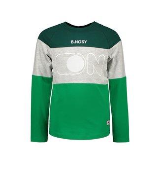 B.nosy T-shirt with vertical panels Botanical green