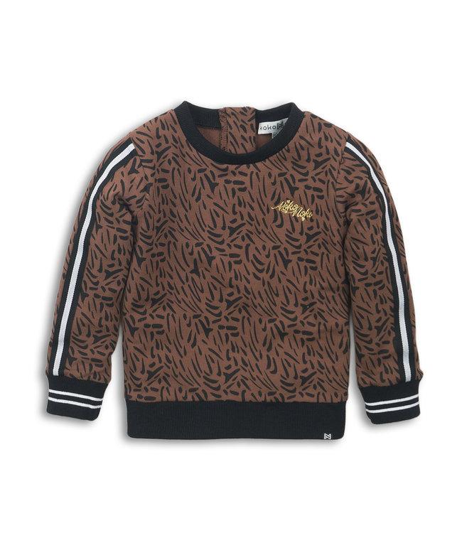 Koko Noko Sweater bruin panter