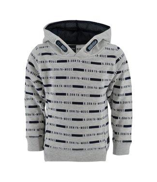 Born to be Famous Sweater Matz grijs