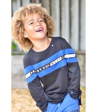 Kiddo Shirt William black/ cobalt