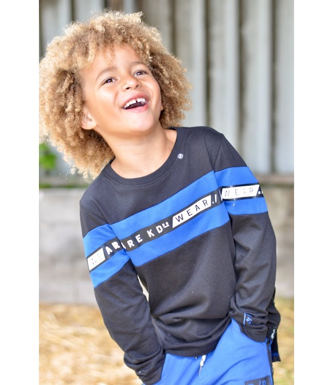 Kiddo Shirt William black/ cobalt