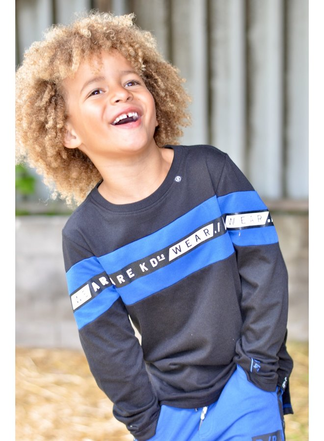 Shirt William black/ cobalt