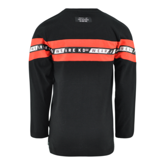 Kiddo Shirt Xanto black/ Oranje