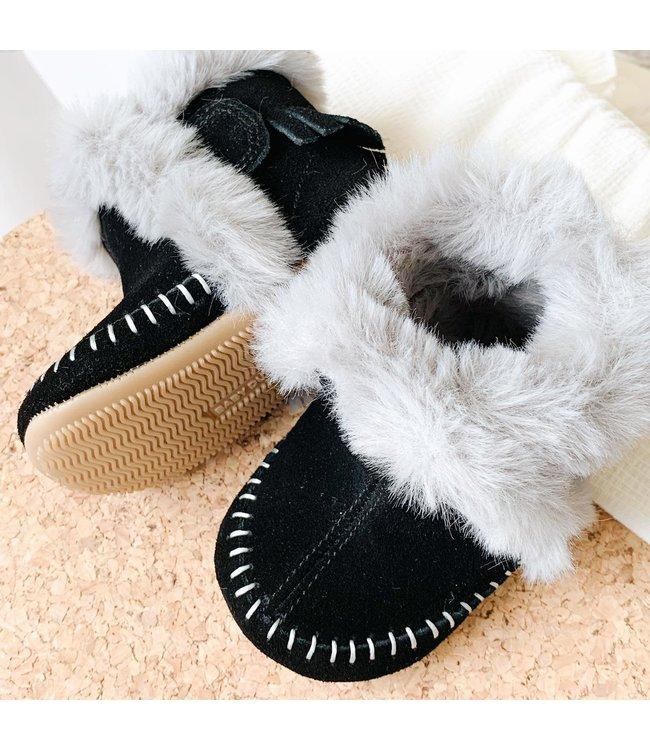 Baby Dutch Winter boot high black