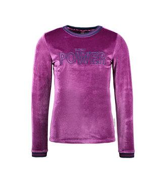 B.nosy Shirt velvet paars Active