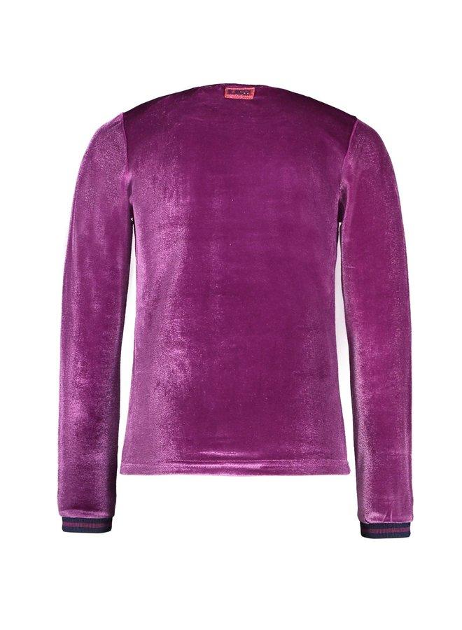 Shirt velvet paars Active