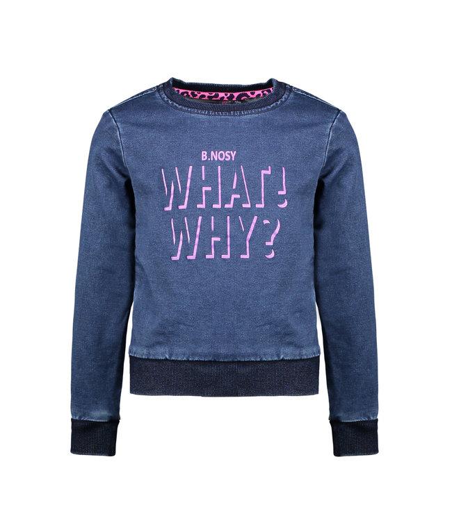 B.nosy Sweater  Denim Blauw Active