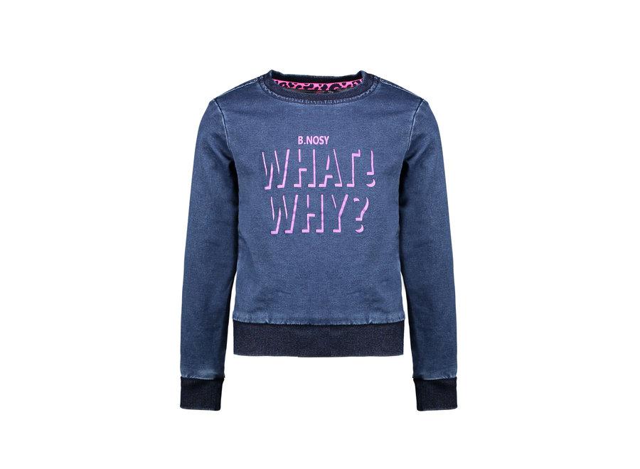 Sweater  Denim Blauw Active