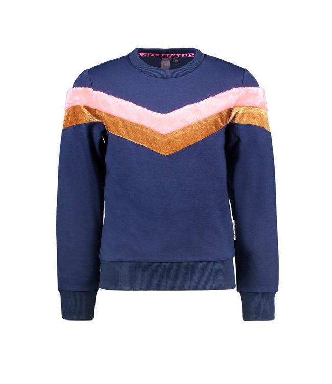 B.nosy Sweater Blauw V Shaped