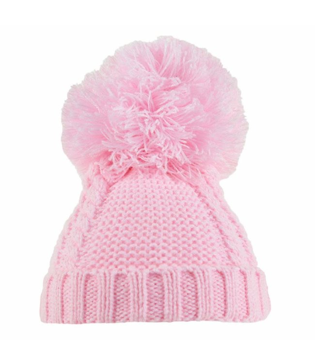 Soft Touch Baby muts roze 0/6M