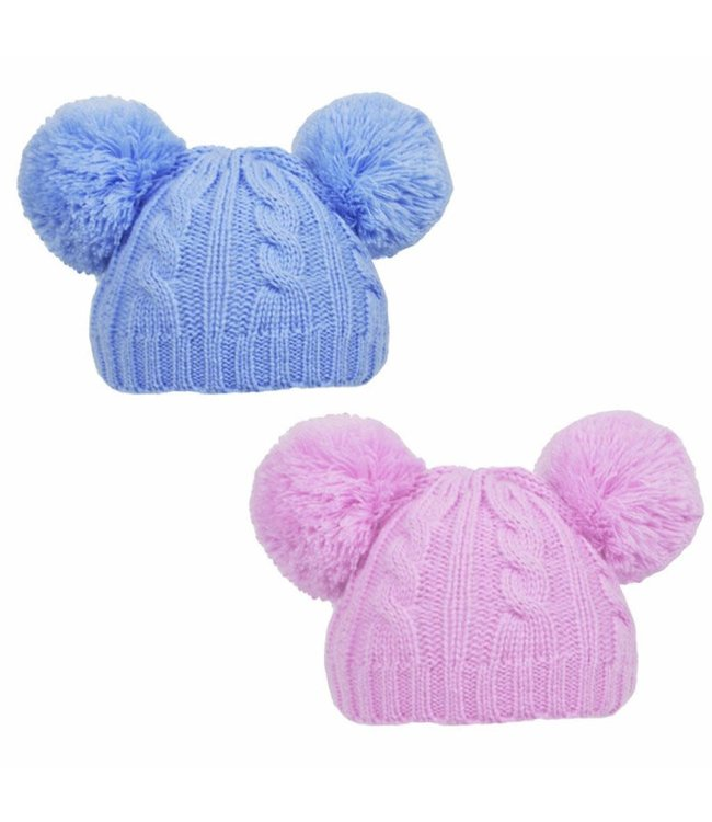 Soft Touch Baby muts roze of blauw 0/6m