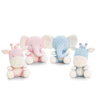 Soft Touch Knuffel 15cm olifant of nijlpaard
