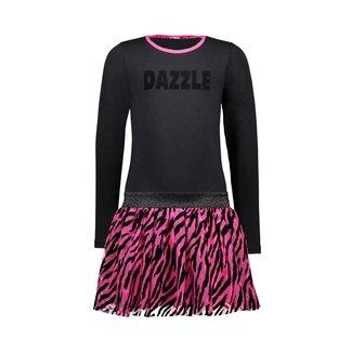 B.nosy Jurk Zwart/Paars Zebra - Dazzled
