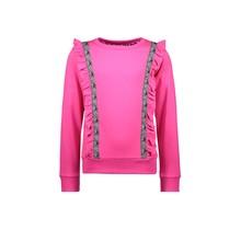 Sweater met ruffle Pink Zebra - Dazzled