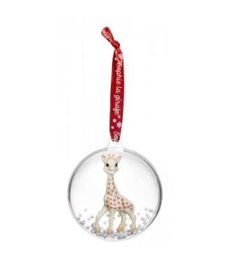 Sophie de Giraf Sophie de giraf kerstbal met rood lintje