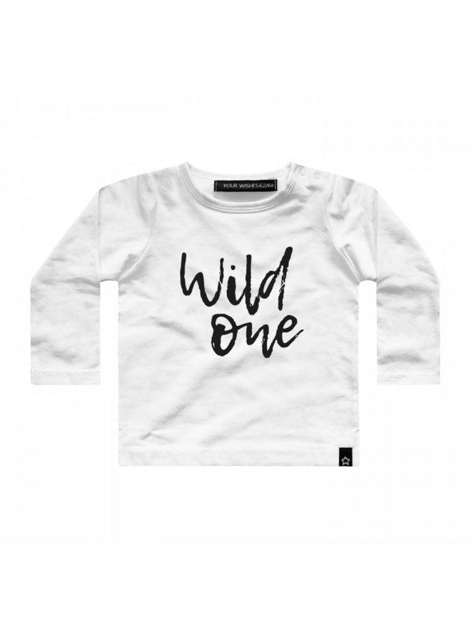 T-shirt Wild one offwhite
