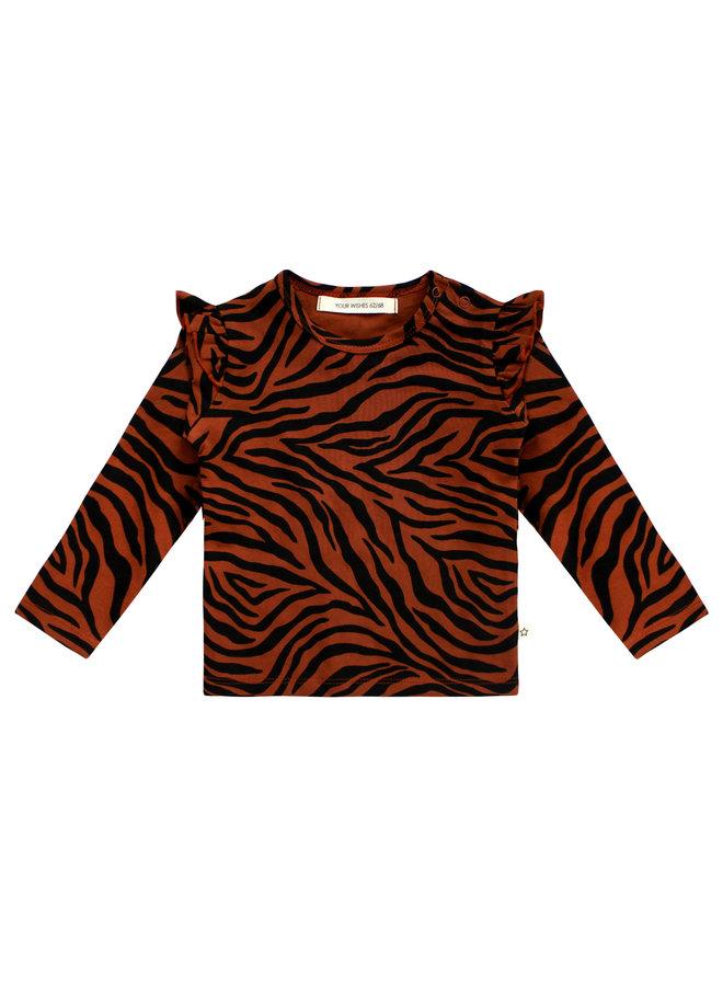 Shirt zebra ruffle