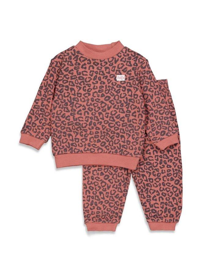Pyjama wafel Terra Pink Fashion