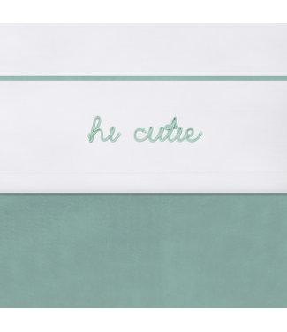 Jollein Laken 75x100cm Hi cute green of pink