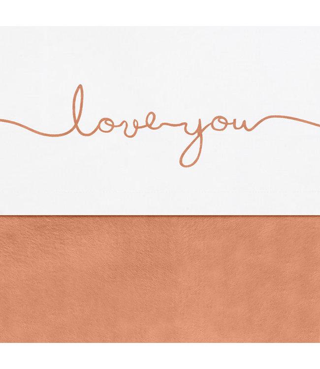 Jollein Laken 75x100cm Love You nougat of camel