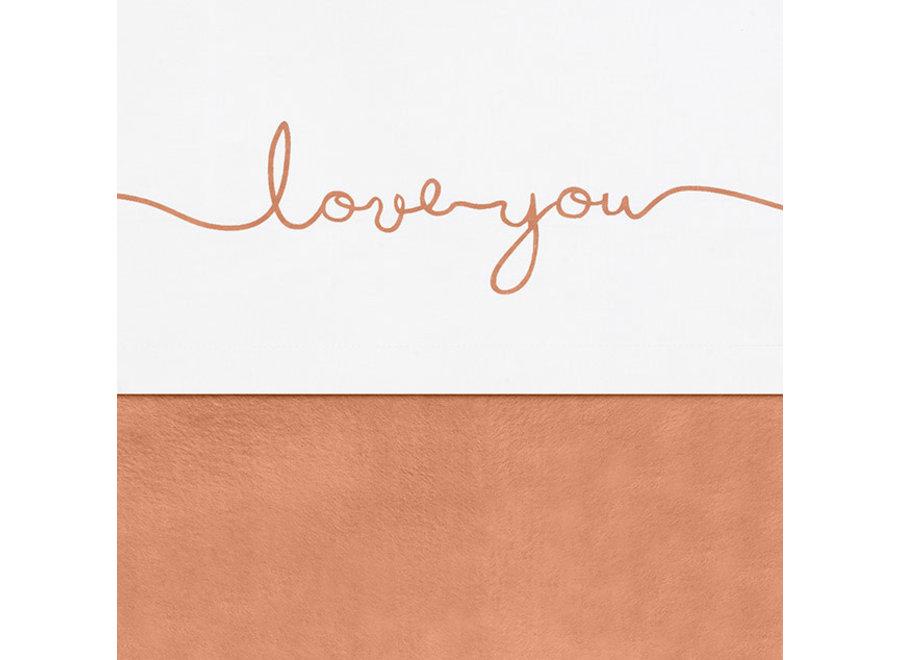 Laken 75x100cm Love You 2 kleuren
