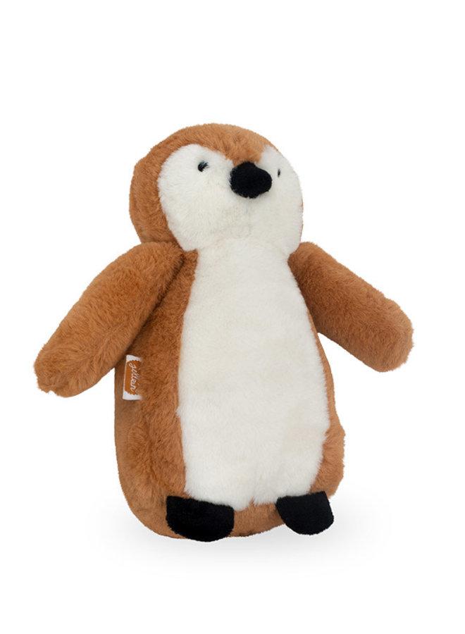 Knuffel Pinguin camel of grey