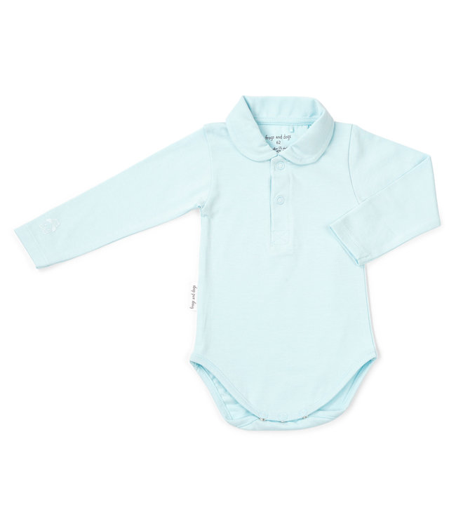 Frogs and Dogs Polo Romper Frogs&Dogs Light Blue