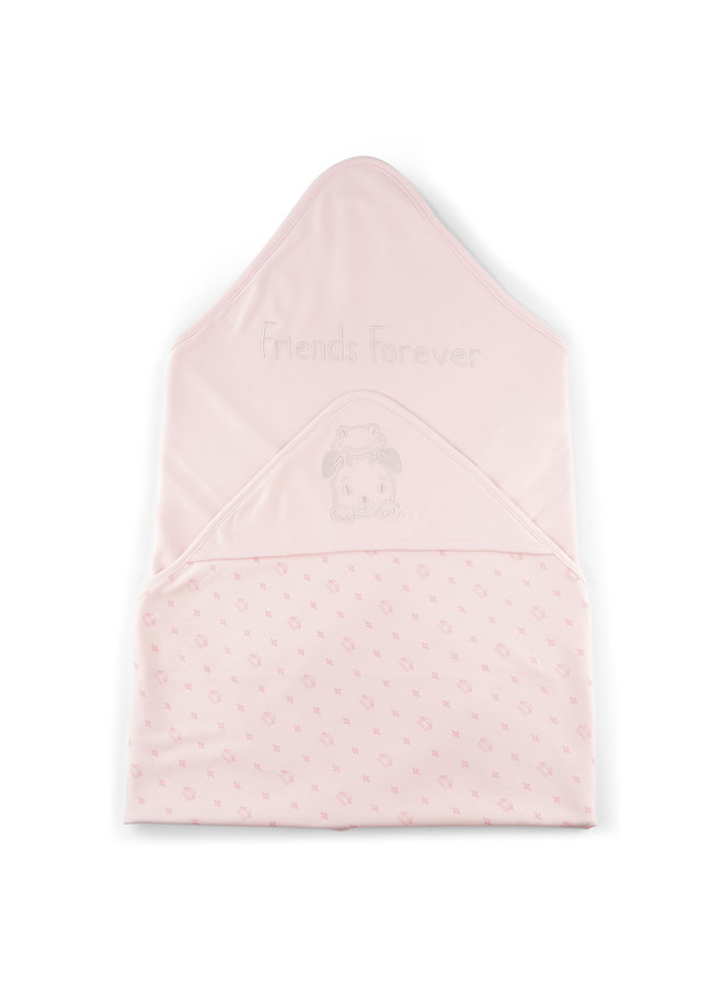 Hooded Blanket Frogs&Dogs 2 Kleuren