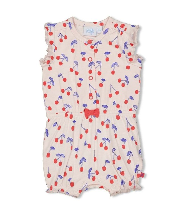 Feetje-baby Playsuit - Cherry Sweetness - Roze
