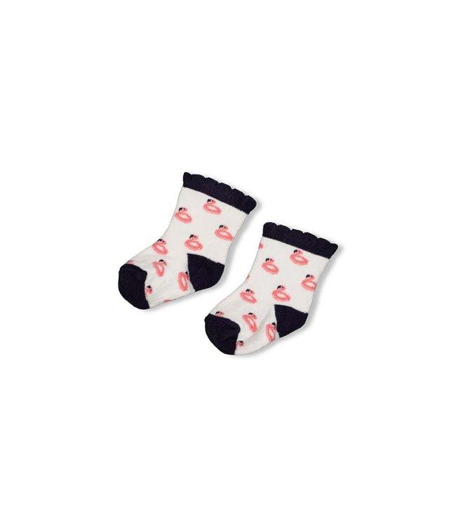 Feetje-baby Sok - Seaside Kisses - Wit