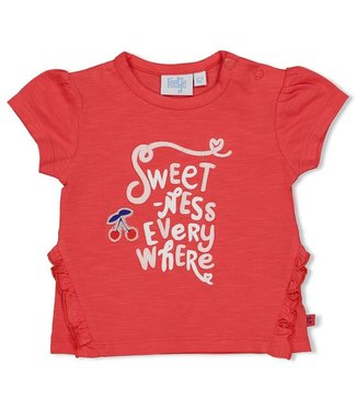 Feetje-baby T-shirt Everywhere - Cherry Sweetness - Rood