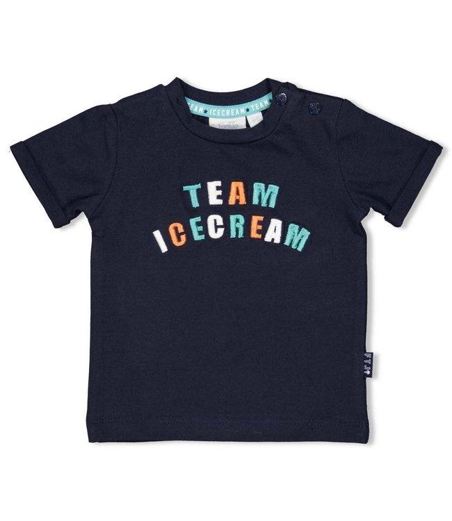 Feetje-baby T-shirt - Team Icecream - Marine