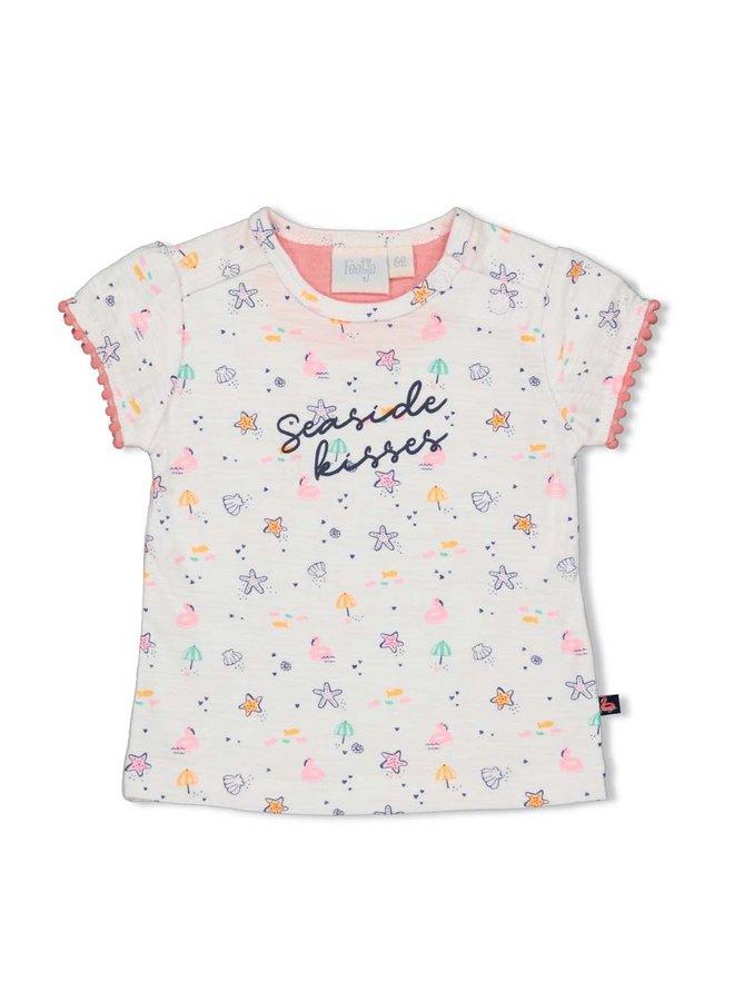 T-shirt AOP - Seaside Kisses - Wit