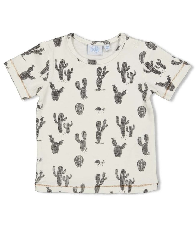 Feetje-baby T-shirt AOP - Looking Sharp - Offwhite