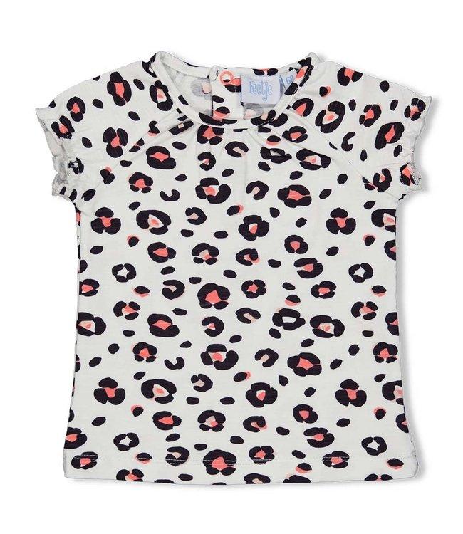 Feetje-baby T-shirt AOP - Leopard Love - Wit