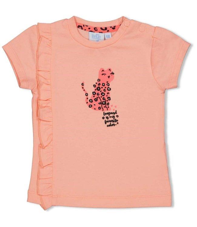 Feetje-baby T-shirt - Leopard Love - Roze