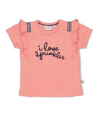 Feetje-baby T-shirt - Sweet Gelato - Koraal