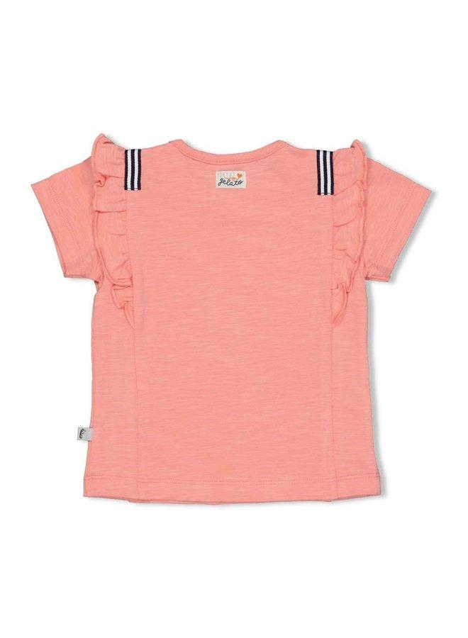 T-shirt - Sweet Gelato - Koraal
