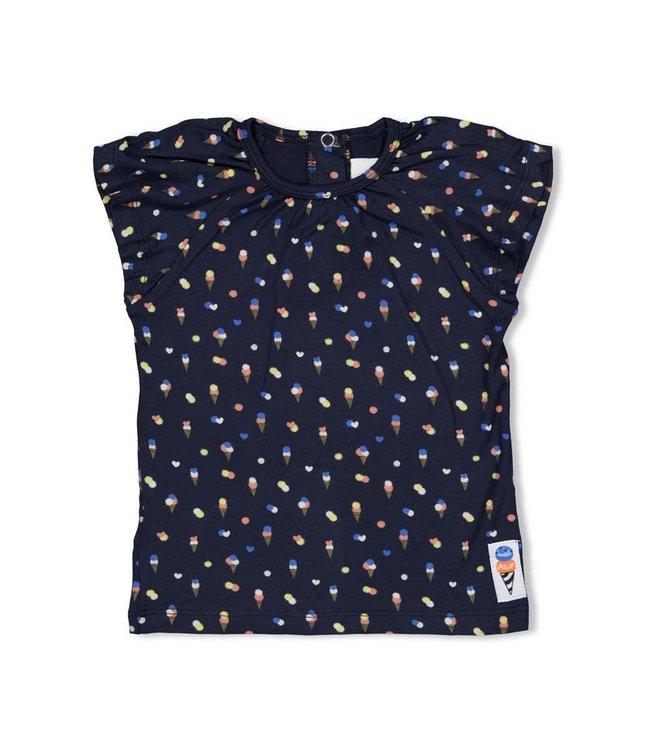 Feetje-baby T-shirt AOP - Sweet Gelato - Marine