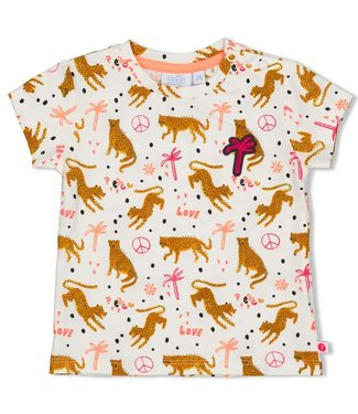 Feetje-baby T-shirt AOP - Whoopsie Daisy - Offwhite