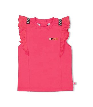 Feetje-baby T-shirt - rusches - Whoopsie Daisy - Fuchsia
