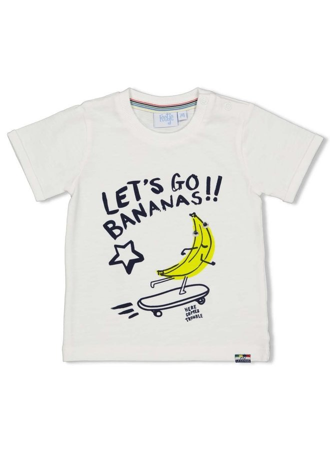 T-shirt Let's Go - Playground - Wit