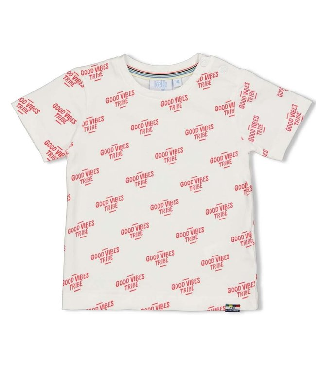 Feetje-baby T-shirt Fast - Playground - Wit
