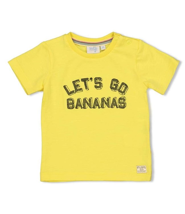 Feetje-baby T-shirt Let's Go - Playground - Geel