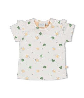 Feetje-baby T-shirt AOP - Hearts - Wit