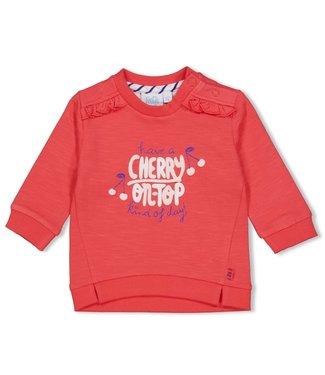 Feetje-baby Sweater - Cherry Sweetness - Rood